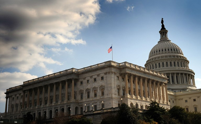 the US Senate and Capitol Dome in Washington. (AFP Photo / Tim Sloan)