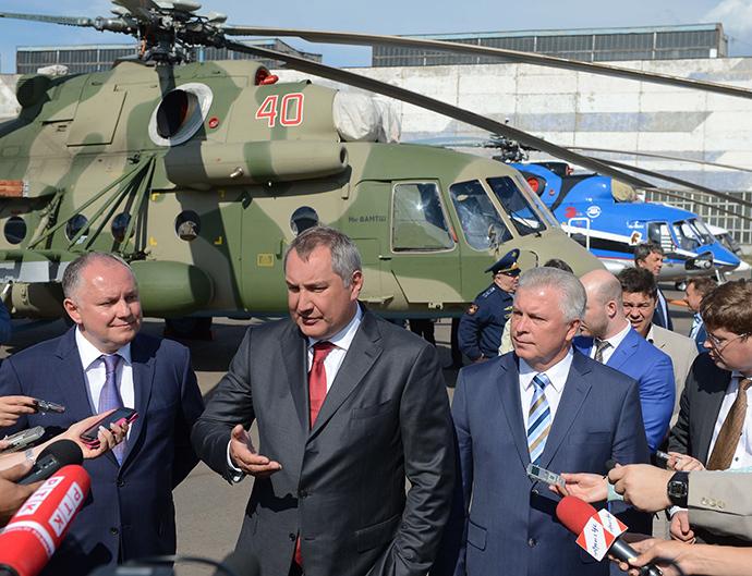 Dmitry Rogozin's working visit to Ulan-Ude (RIA Novosti / Sergey Mamontov)
