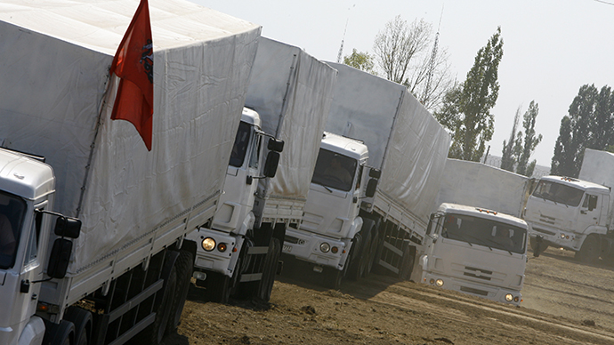 Western media inspect Russia's Ukraine aid trucks and find... aid