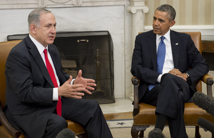 US President Barack Obama(R) and Israeli Prime Minister Benjamin Netanyahu (AFP Photo / Saul Loeb)