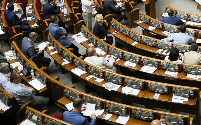 A session of the parliament in Kiev August 14, 2014. (Reuters / Gleb Garanich)