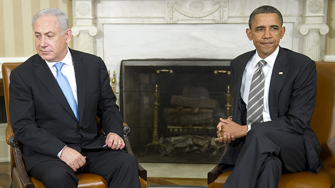US President Barack Obama (R) meets with Israeli Prime Minister Benjamin Netanyahu (AFP Photo / Jim Watson)