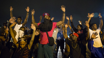 One shot, 7 arrested as Ferguson police disperse protesters defying curfew