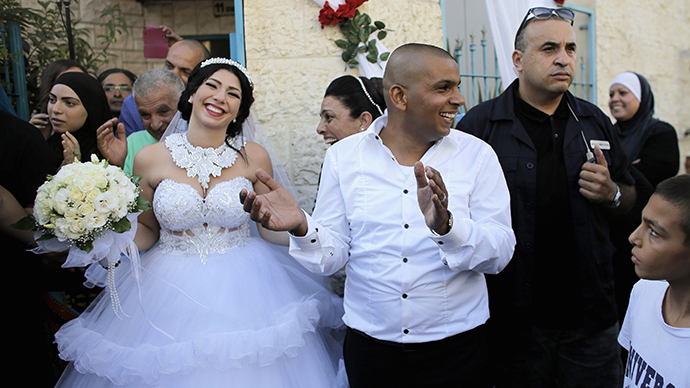 Far-right group pickets Jewish-Arab wedding following media frenzy
