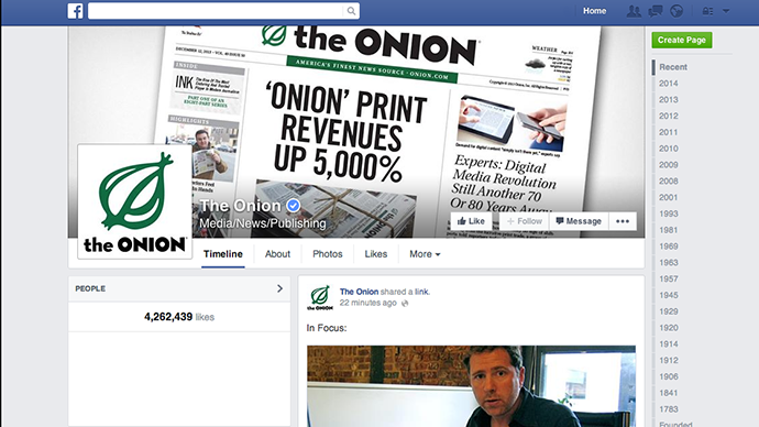 New Facebook 'satire' tag to help users understand Onion-style articles aren't real