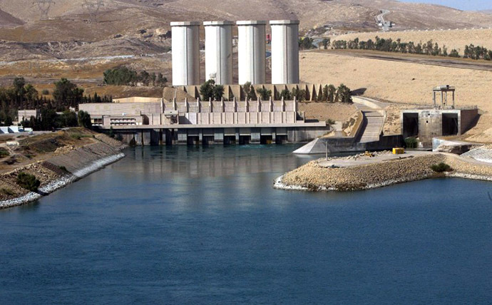 A general view shows the Mosul dam on the Tigris River around 50 kilometres north of the northern Iraqi city of Mosul. (AFP Photo / Ahmad Al-Rubaye)