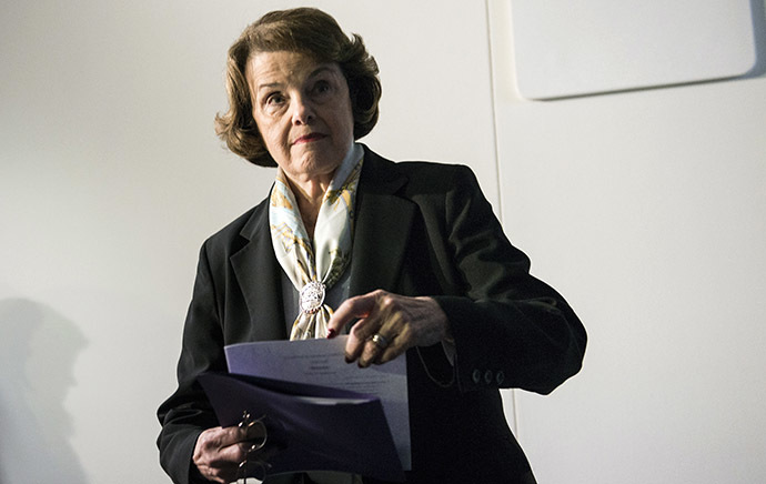 Concerns have arisen Britain's US ambassador may have tried to lobby Senator Diane Feinstein in an effort to censor Britain's role in CIA rendition out of a soon-to-published Senate report. (AFP Photo / Bremdan Smialowski)