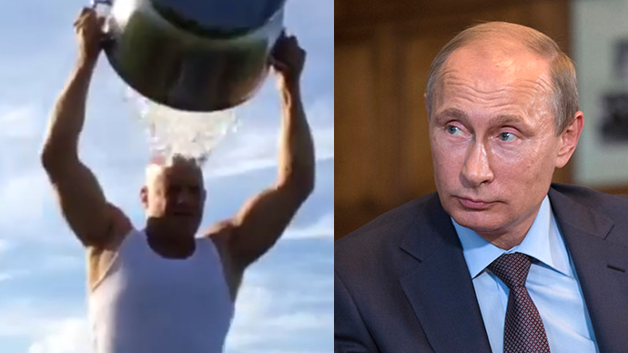 Ice Bucket: Vin Diesel challenges...Putin