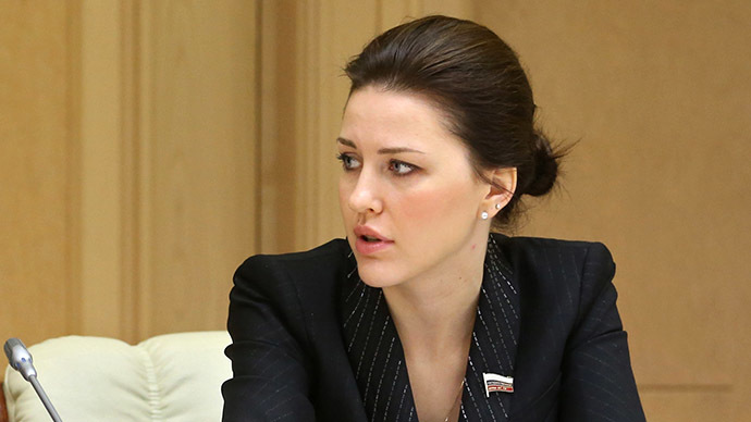 Alyona Arshinova, deputy head of the State Duma Committee on Education (RIA Novosti / Ekaterina Shtukina)