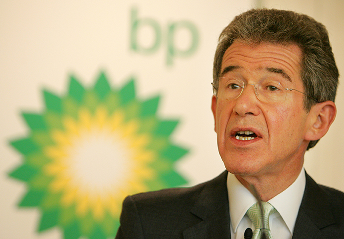 Lord Browne, the former chief executive of BP and current chairman of Cuadrilla is a policy adviser to the government on business and energy-related matters. (BP) (AFP Photo)