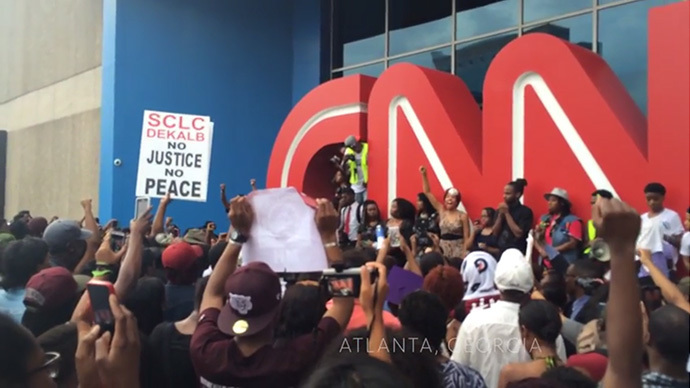 #ItsBiggerThanYou: Atlanta protesters challenge CNN's Michael Brown reporting