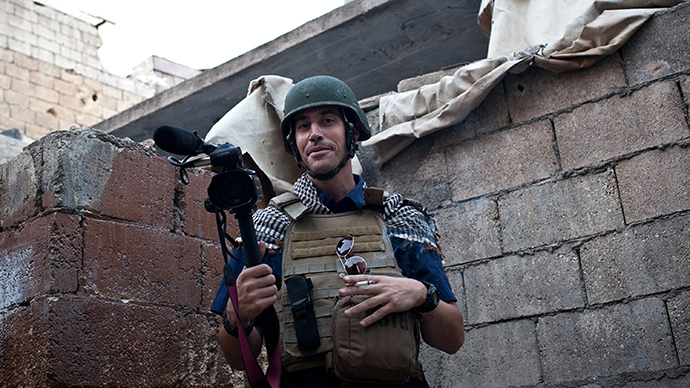 A picture taken on November 5, 2012 in Aleppo shows US freelance reporter James Foley (AFP Photo / Nicole Tung)