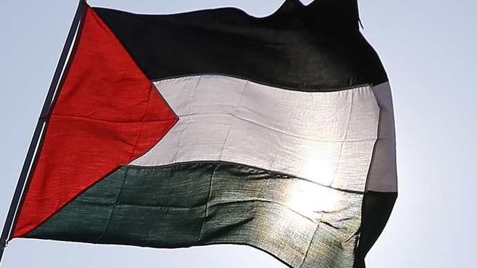 Giant Palestinian flag unfurled over NYC bridge during protest