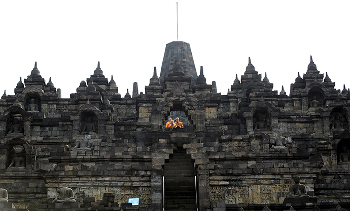 Borobudur temple in Magelang (AFP Photo / Adek Berry)