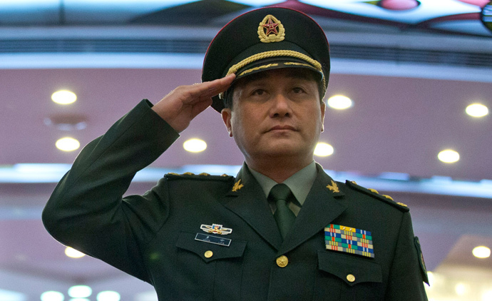 Gen. Wang Ning deputy Chief Staff of the People's Liberation Army (AFP Photo / Pool / Alexander F. Yuan)