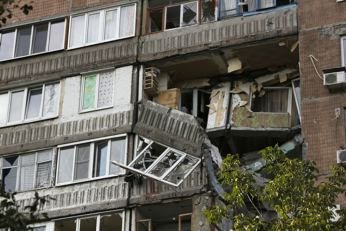A house in Donetsk destroyed by shelling. (RIA Novosti / Maks Vetrov)