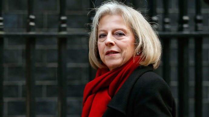 Britain's Home Secretary, Theresa May, has expressed deep determination to tackle the domestic threat posed by IS. (Reuters / Andrew Winning)