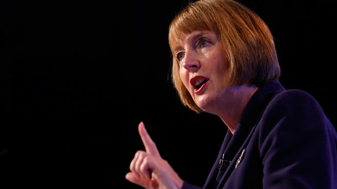 Labour Party deputy leader, Harriet Harman, claims the Tories are bankrolled by anonymous donors who remain shrouded in secrecy. (Reuters / Andrew Winning)