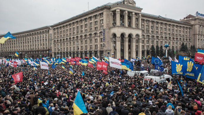 Rally by supporters of Ukraine's European integration on Independence Square in Kiev.(RIA Novosti / Andrey Stenin)