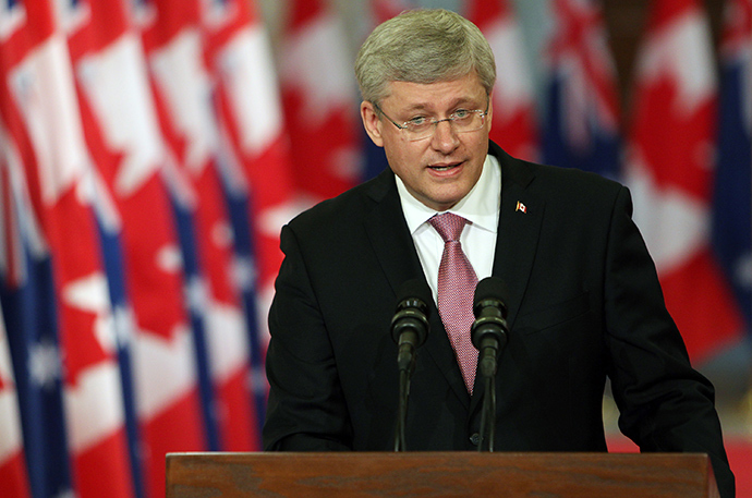 Canadian Prime Minister Stephen Harper (AFP Photo / Cole Burston)