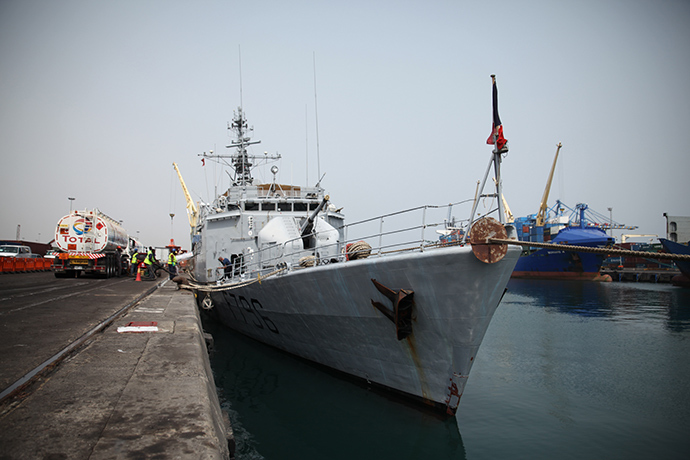 "French Navy ship ""Commandant Birot"" (AFP Photo / Chris Stein)"