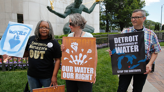 Detroit resumes water service shutoffs for cash-strapped residents