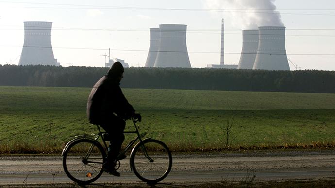 Rivne nuclear power plant's watercooling facilities, Ukraine (Reuters)