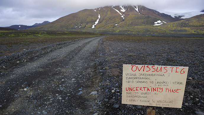 Bardarbunga: Iceland cuts aviation alert level to orange from red