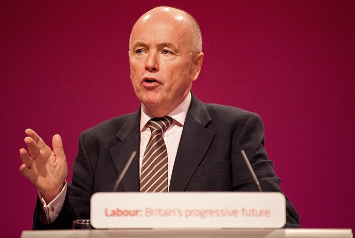 Britain's shadow policing minister, Jack Dromey, said Shaun Wright should resign from his post. (AFP Photo / Leon Neal)