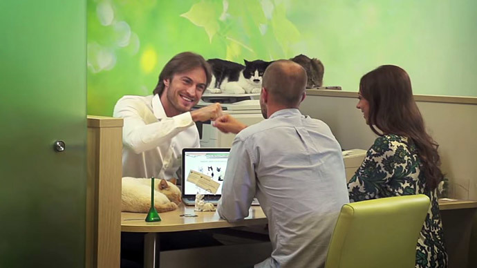 Purr-fect mortgage: Top Russian bank offers feline bonus to new homeowners (VIDEO)