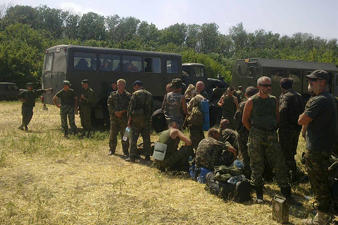 Ukrainian soldiers in Rostov Region August 4, 2014 (RIA Novosti / Julia Nasulina)