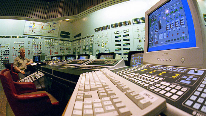 The control panel of the Zaporozhye nuclear power plant.(RIA Novosti / Falin)