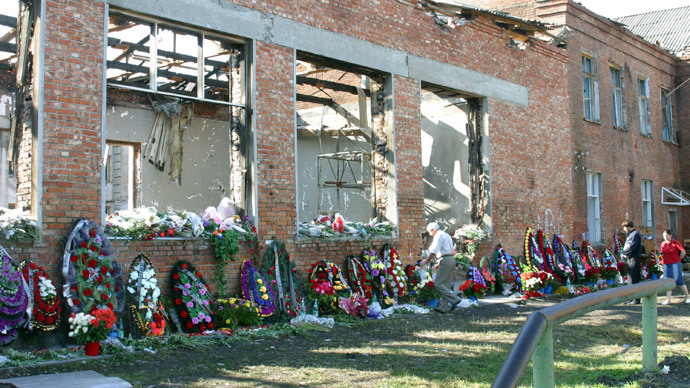School No.1 in Beslan that was seized by terrorists.(RIA Novosti / Natalya Lvova)