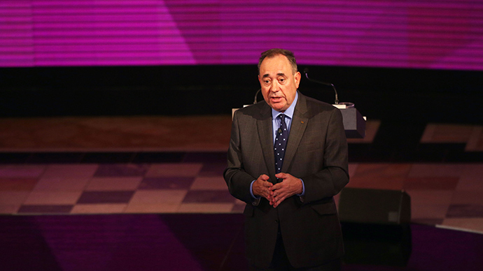 Alex Salmond's SNP administration wish to banish Trident nuclear submarines from Scotland within four years. (AFP Photo / David Cheskin)