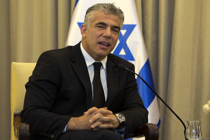 Israeli Finance Minister Yair Lapid (AFP Photo / Menahem Kahana)