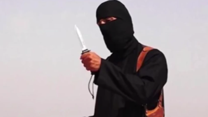 The killer, nicknamed 'Jihadi John' (An image grab taken from YouTube video 'ISIS Beheading of Journalist James Foley Captures World's Attention')