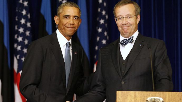 Obama pledges to send more aircraft and military to Estonia