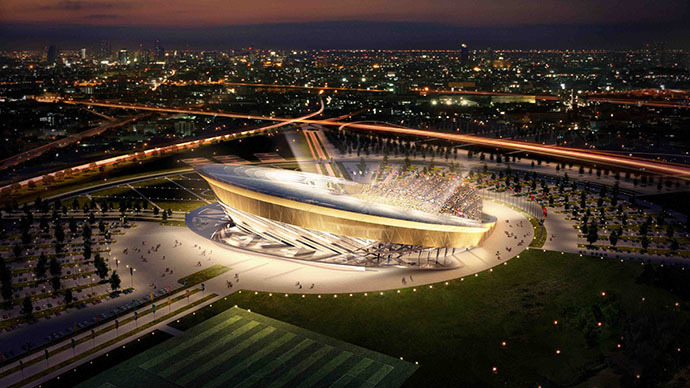 Model of stadium in Leninsky District, Moscow Region, for 2018 FIFA World Cup (RIA Novosti)