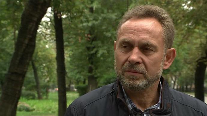A retired Russian officer Vladimir Melnik (Still from RT video)
