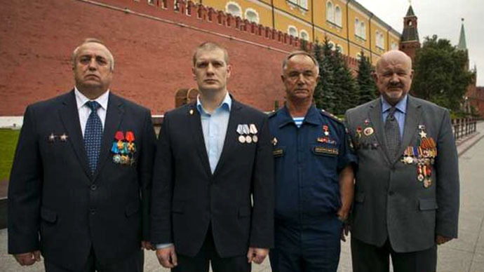 The members of the veterans' organizations (Image from oficery.ru)
