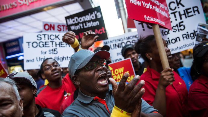 Fast food worker strike begins with arrests nationwide (PHOTOS)