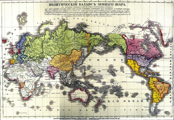 A map of the Russian Empire in 1829-1830