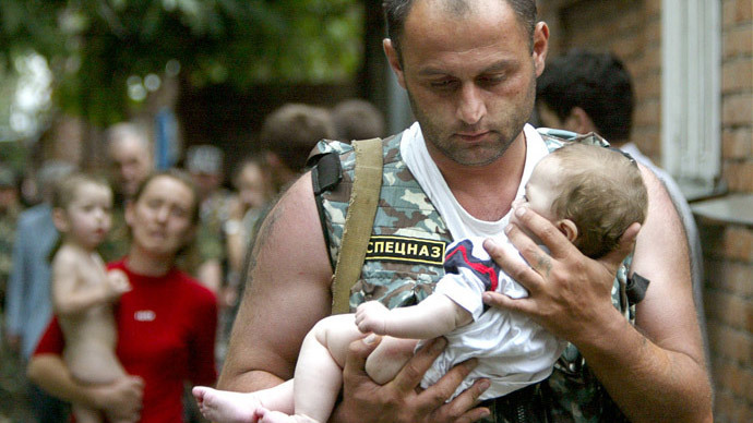 ​Beslan's youngest survivor and her rescuer meet 10 years after tragedy