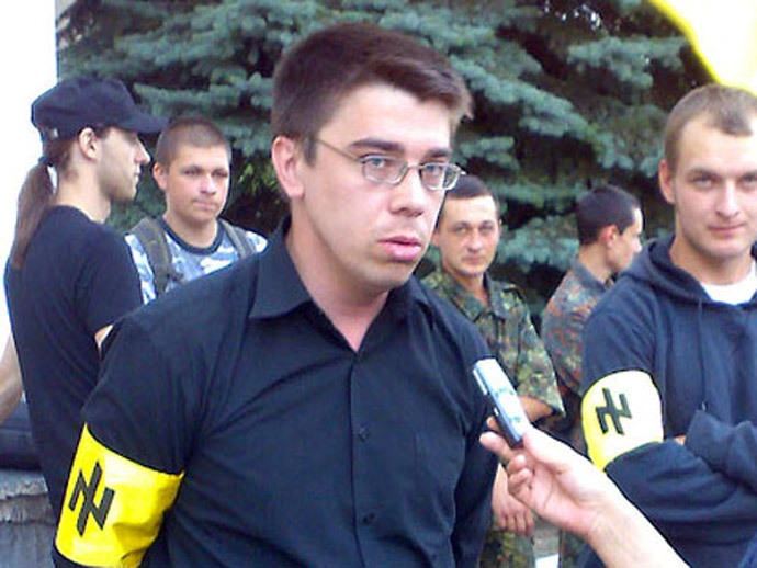 Oleh Odnorozhenko, deputy commander of the Azov Battalion.(Photo from Maydan-2014.livejournal.com)