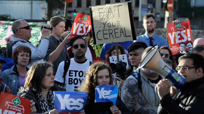 Scottish independence: Sterling pounded on back of 'yes' surge