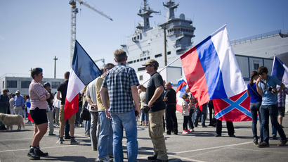 ​Mistral of discord: Russian sailors test-sail warship that Paris may withhold
