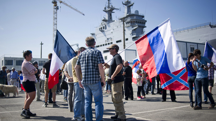 French protesters unite against govt's suspension of Mistral delivery to Russia (PHOTOS, VIDEO)