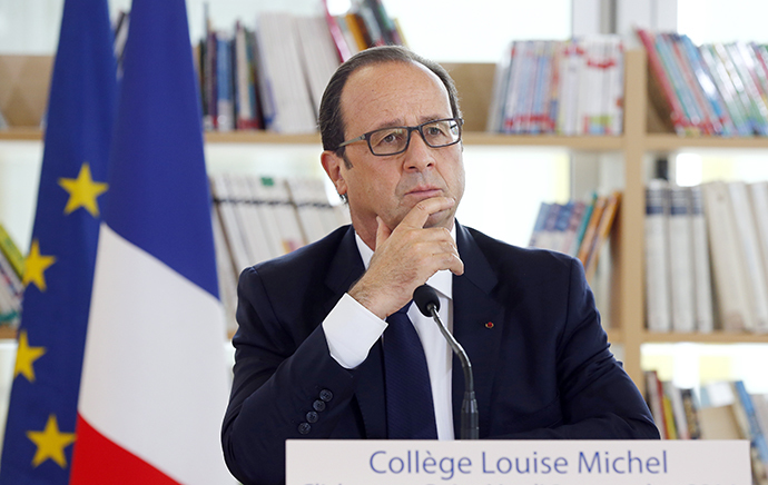 French President Francois Hollande (AFP Photo / Etienne Laurent)
