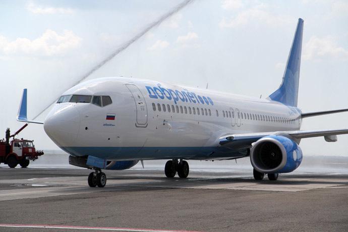 Sanctioned Dobrolet Airline's Boeing plane 737-800 (RIA Novosti/Andrey Iglov)
