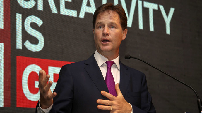 Britain's Deputy Prime Minister Nick Clegg (Reuters/Divyakant Solanki)